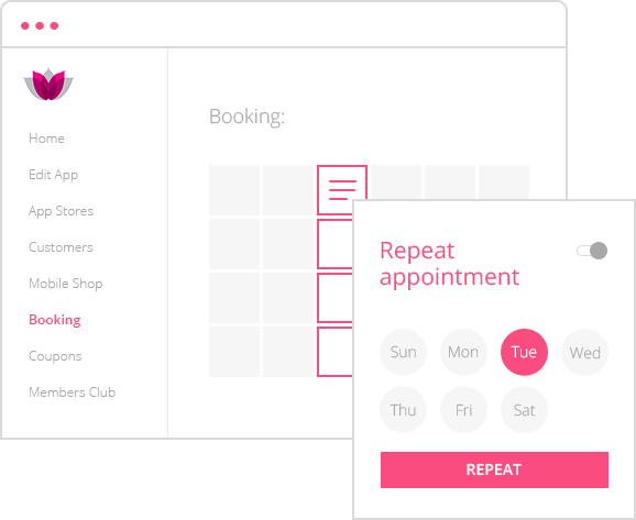 booking & scheduling app