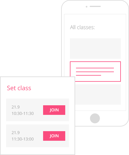 classes booking app