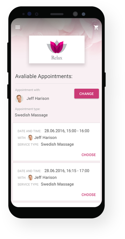 mobile booking for your app