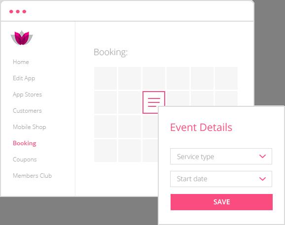 booking & scheduling management app