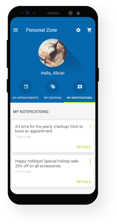 Push notification on your app