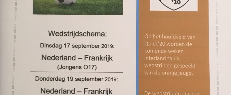 Interland Oranje Jeugd