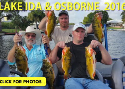 2016 Lake Ida Peacock Bass Pictures