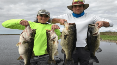 Belle Glade Lake Okeechobee MONSTER Bass Fishing Mid January