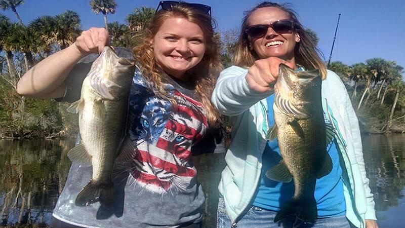 Kansas Group bass fishing On The St Johns River