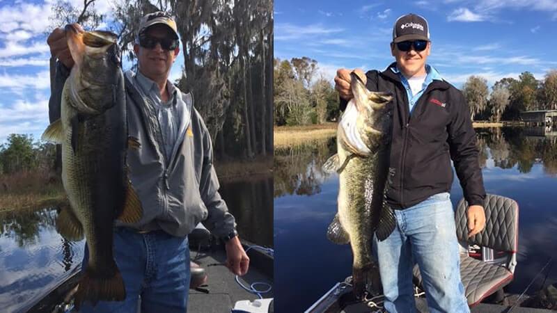 Father And Son Bass Fishing On Lake Santa Fe