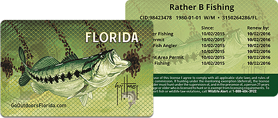 Florida freshwater fishing licenses- wildlife management area
