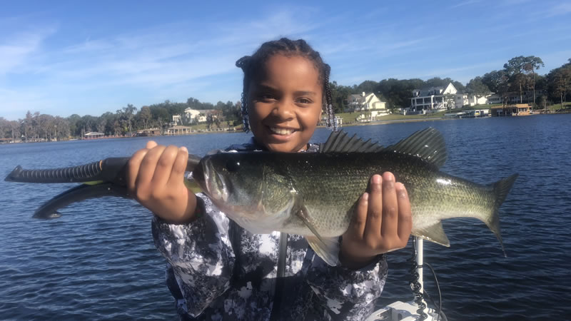 Cindy on Lake Butler Fishing Charters