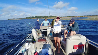 Group Butler Chain of Lakes Pontoon Boat Fishing