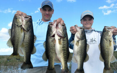 Family Day Bass Fishing on Lake Okeechobee for Florida Largemouth
