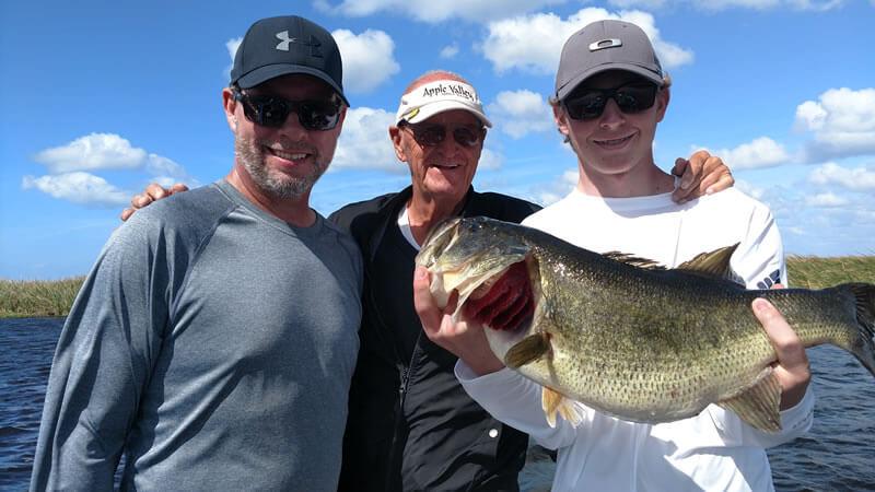 Special Birthday Fishing Surprise while Lake Okeechobee Bass Fishing