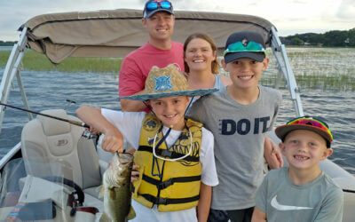 Family Florida Pontoon Charters for Central Florida Largemouth Bass