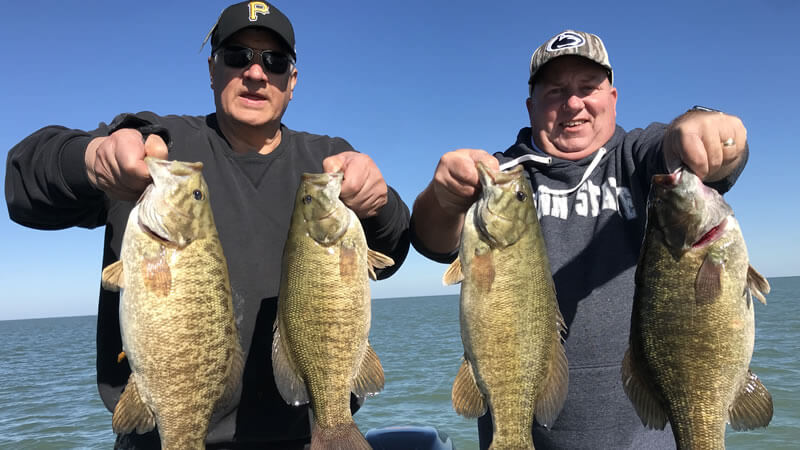 November Lake Erie Fishing Charters for Pennsylvania Smallmouth Bass