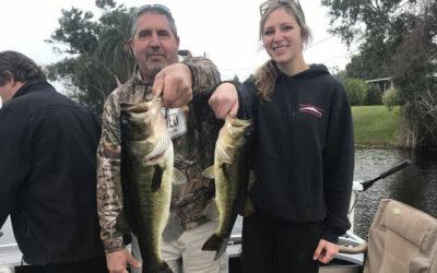 January Pontoon Bass Fishing for Florida Largemouth Bass