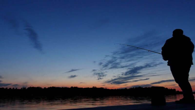 Night fishing for Bass