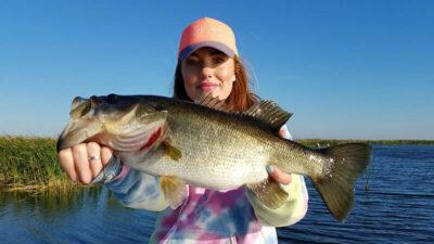 Heidi Hobak Bass Fishing on Lake Okeechobee