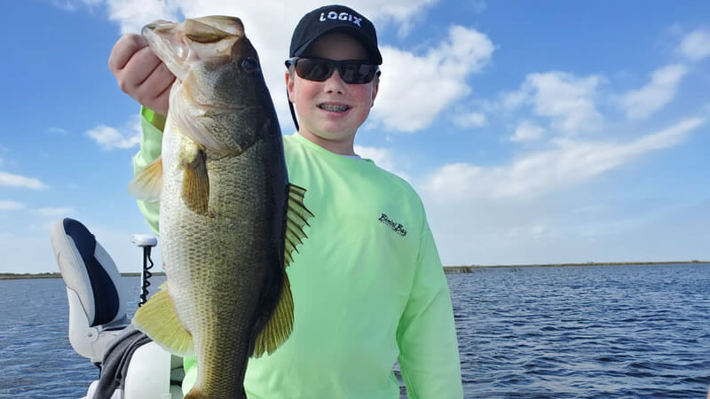 March Florida Okeechobee Fishing for Largemouth Bass