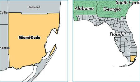Miami Dade County Florida Map