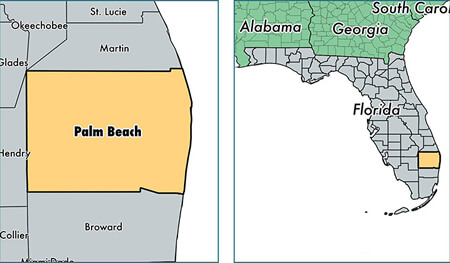 Palm Beach County Florida Map