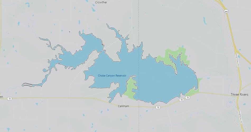 Choke Cayon Reservoir, Texas