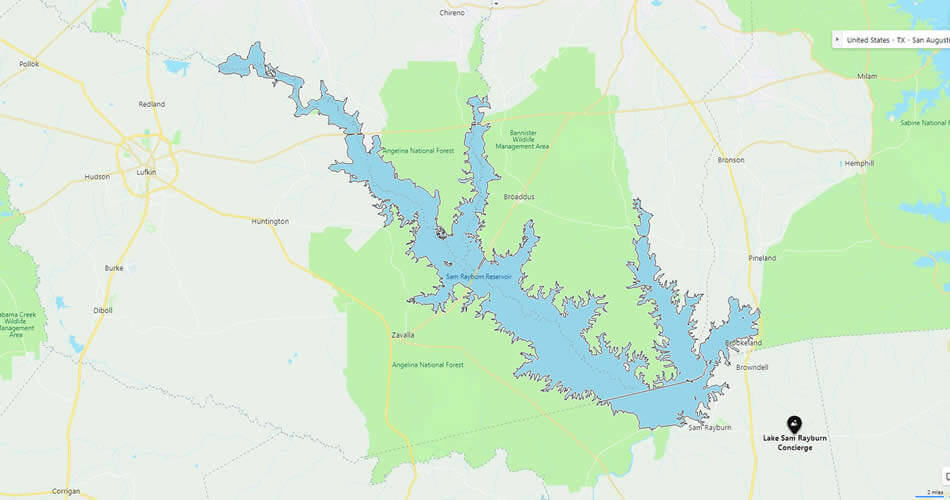Texas Bass - Lake Sam Rayburn Reservoir