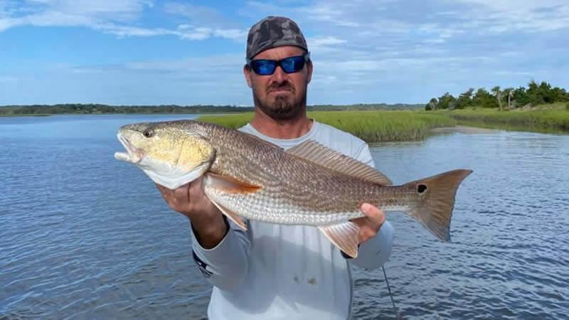 Wayne with Redfish