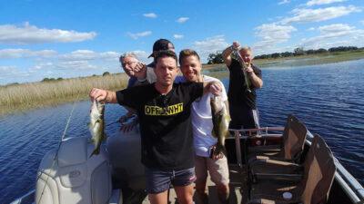 Pontoon charters - Peacock bass fishing