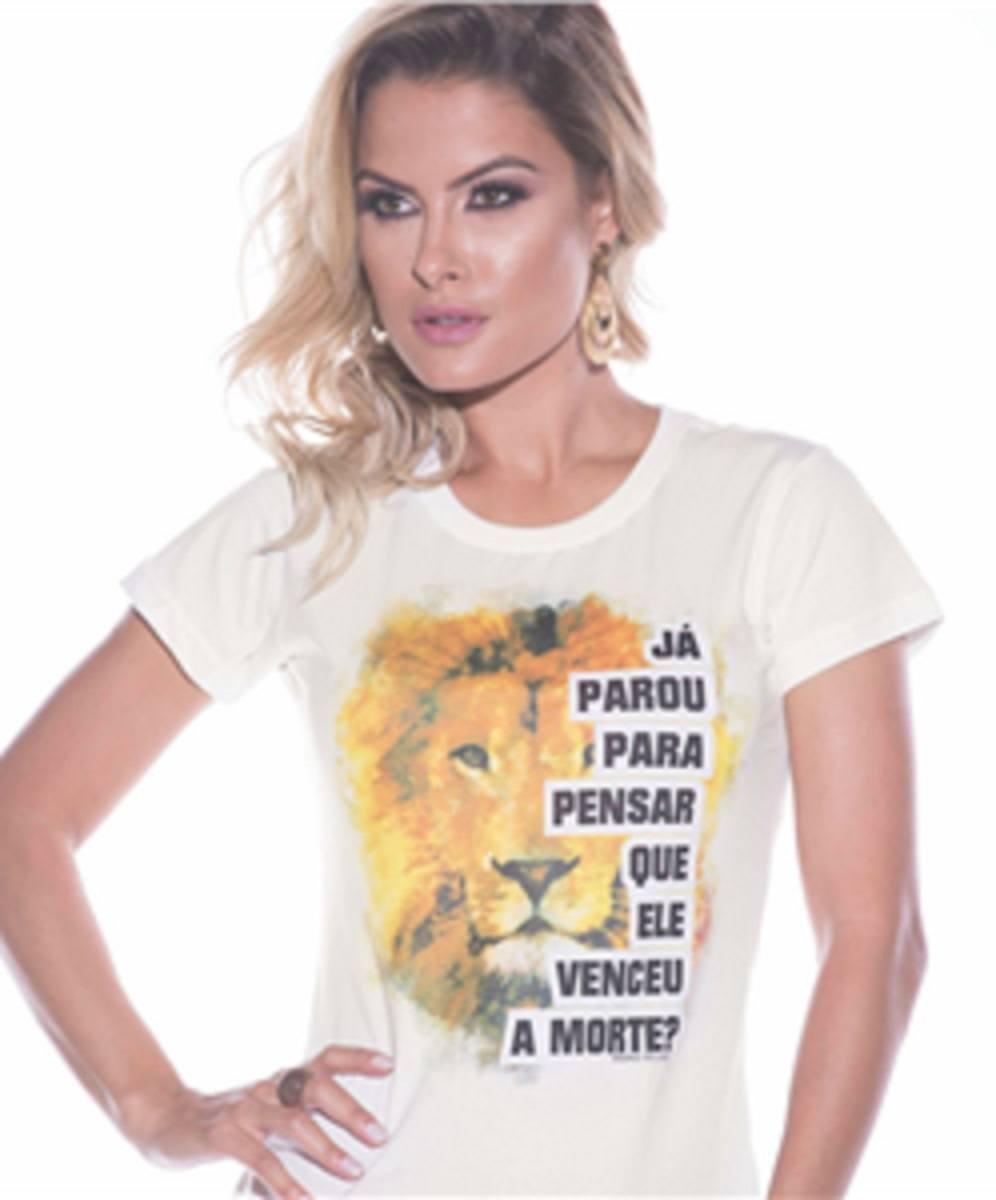 Baby Look Leão - Já Parou para Pensar