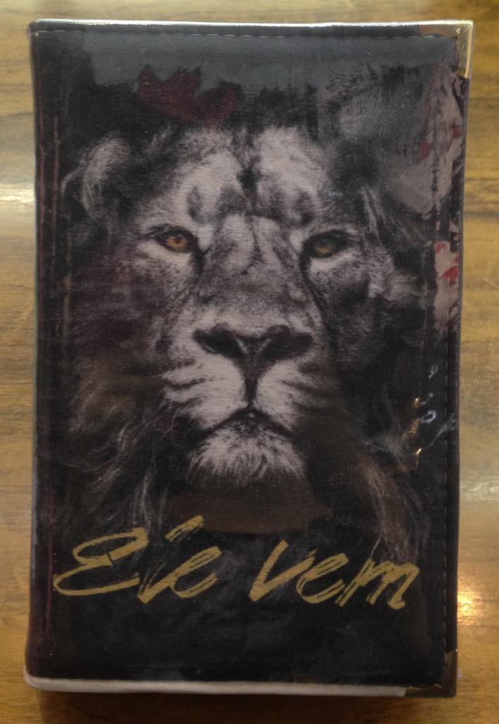 Bíblia Sagrada Letra Gigante I RC I Editora SBB I Capa de Tecido I PRETA LEÃO ELE VEM
