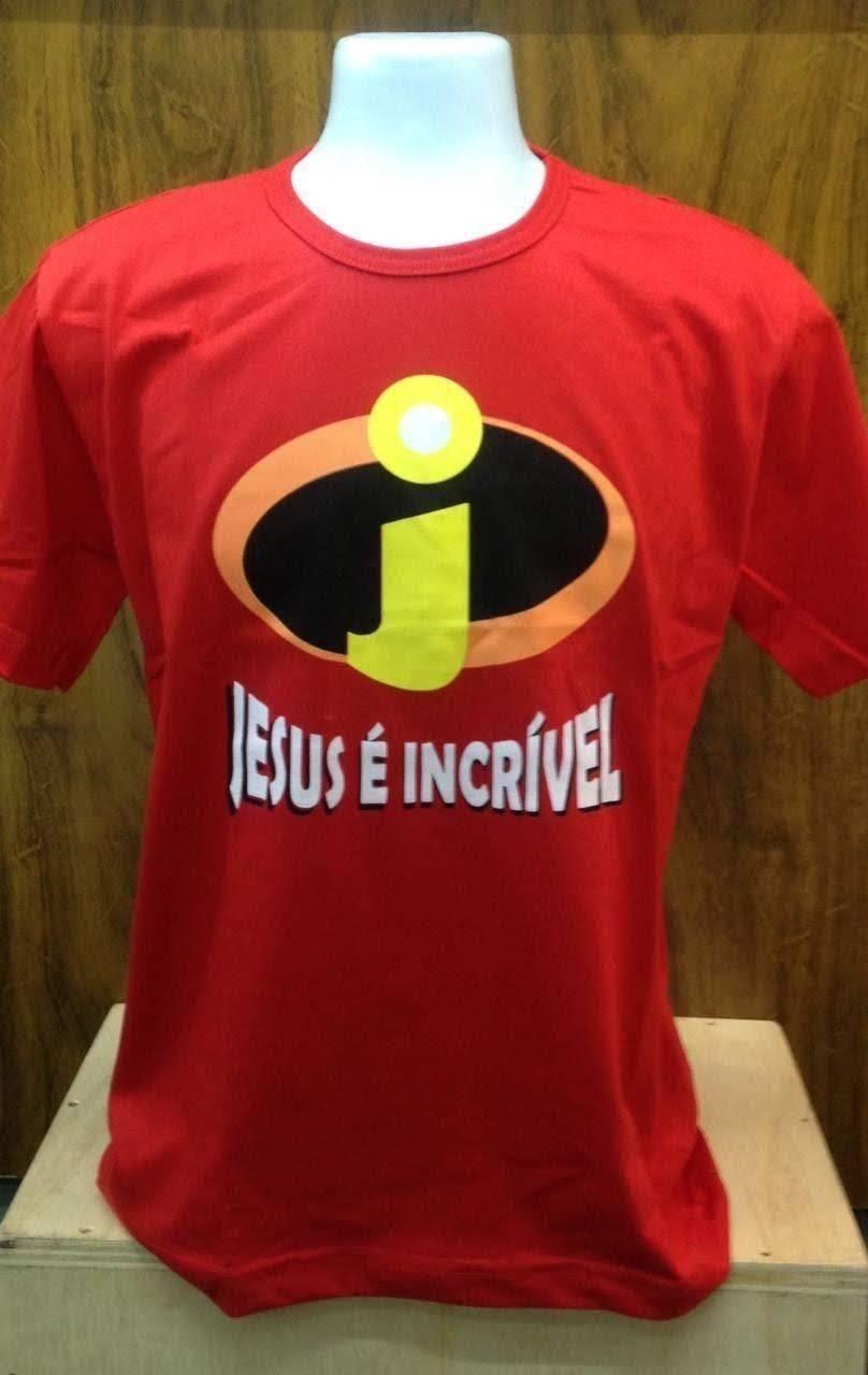 Camiseta Básica -Vermelha JESUS É INCRÍVEL