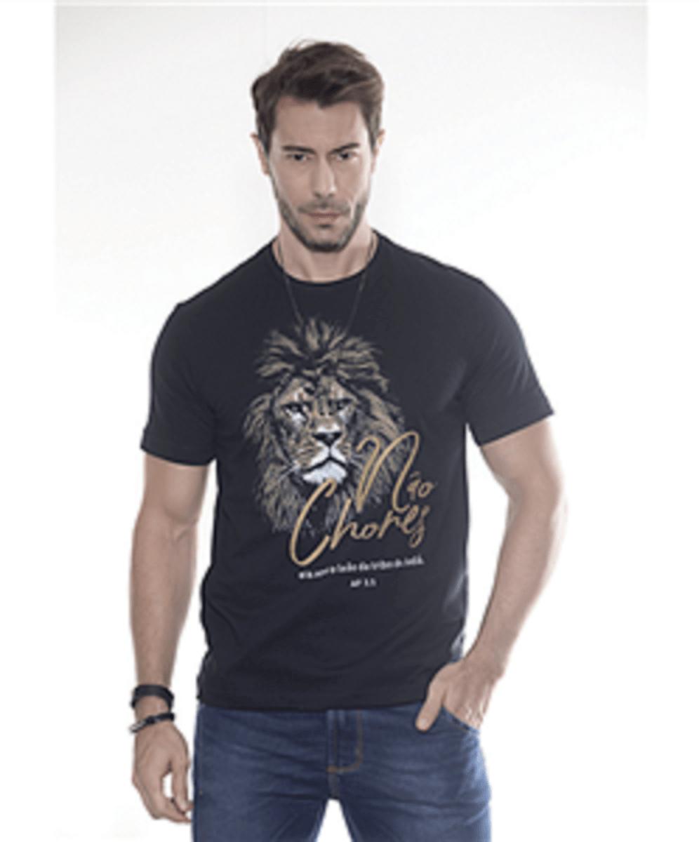 Camiseta Marka da Paz -Não Chores - Imagem Leão