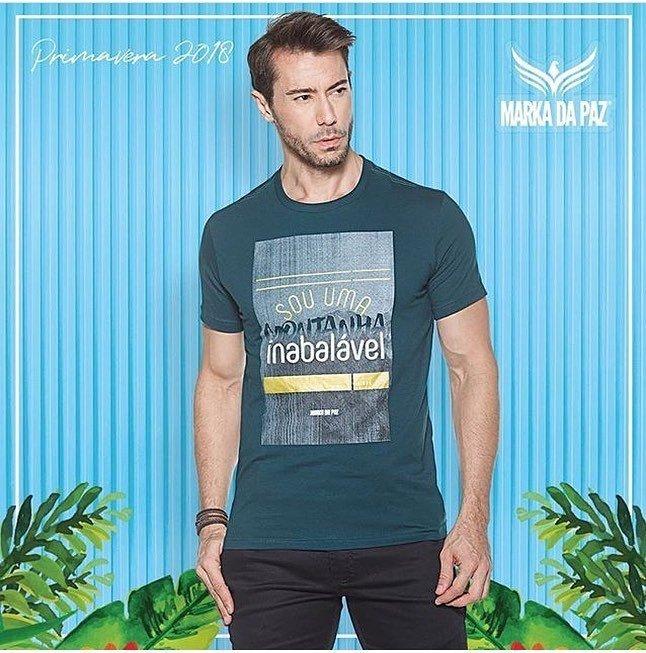 Camiseta Marka da Paz Sou uma Montanha Inabalável