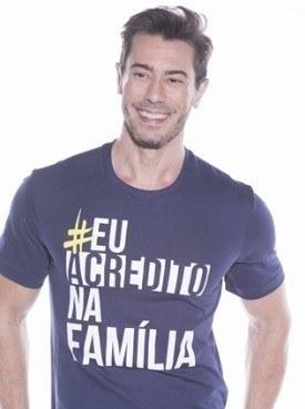 Camiseta Masculina Marka Da Paz - Eu Acredito Na Família