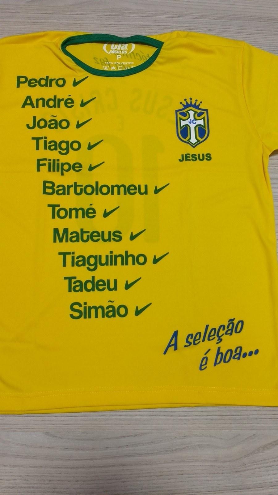Camiseta Seleção de Cristo