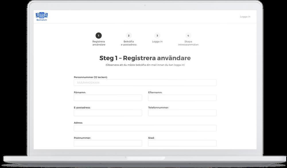 Registrera användare