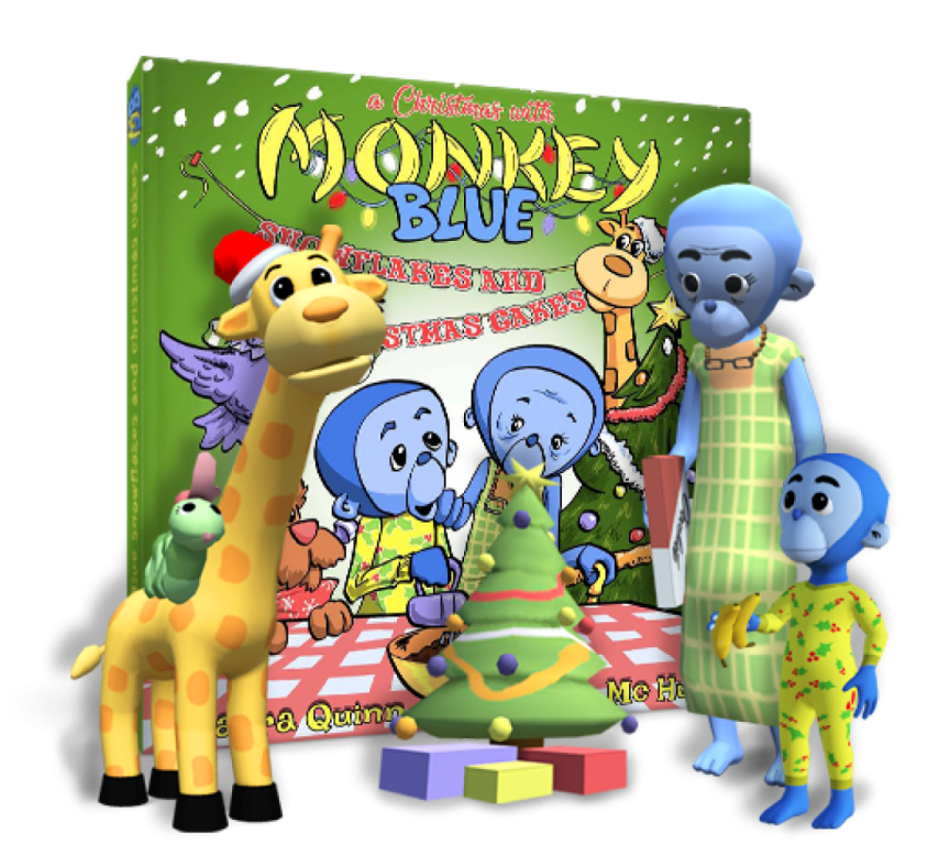 Monkey Blue – SnowFlakes and Christmas Cakes