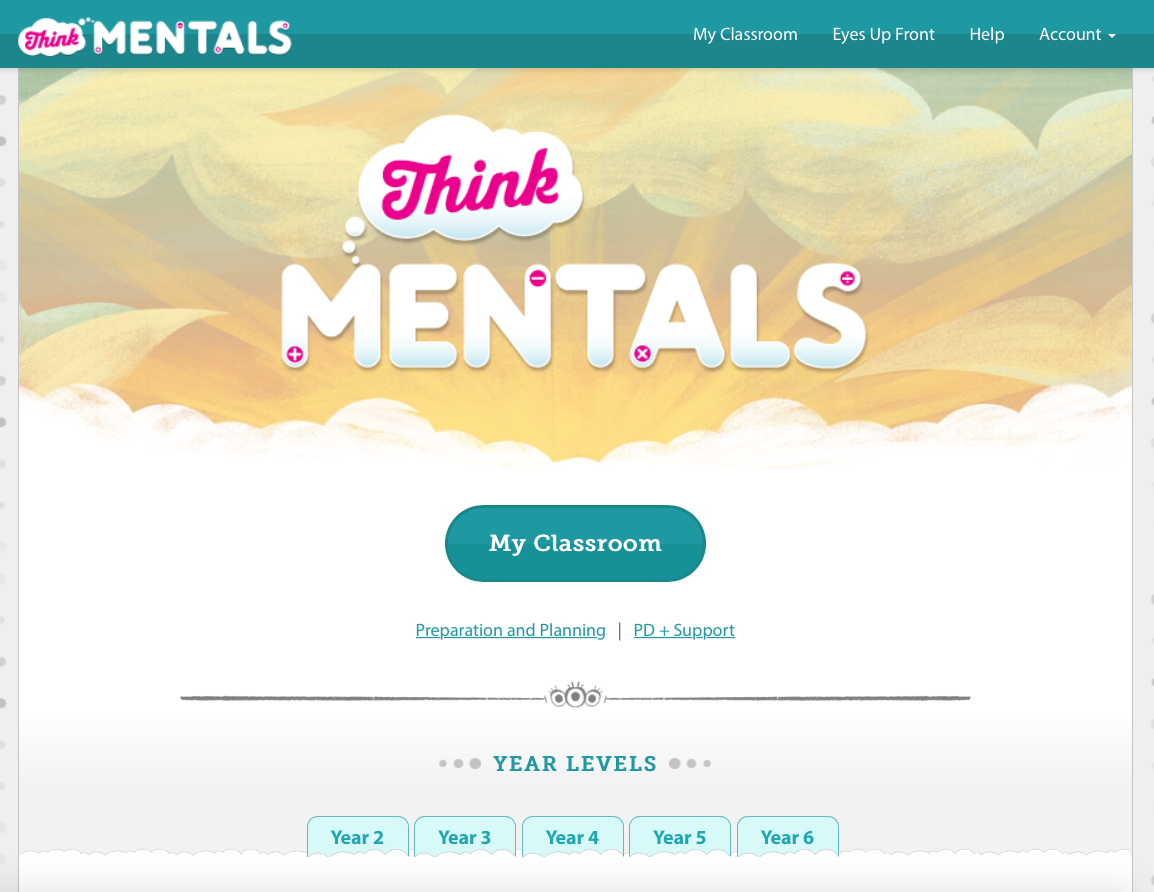 Think Mentals Digital Classroom (Years 2 – 6)