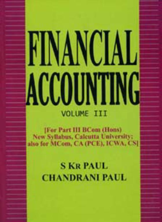 FINANCIAL ACCOUNTING %5BVol III%5D