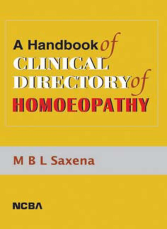 A HANDBOOK OF CLINICAL DIRECTORY OF HOMOEOPATHY