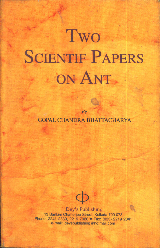 Two Scientific Papers On Ant