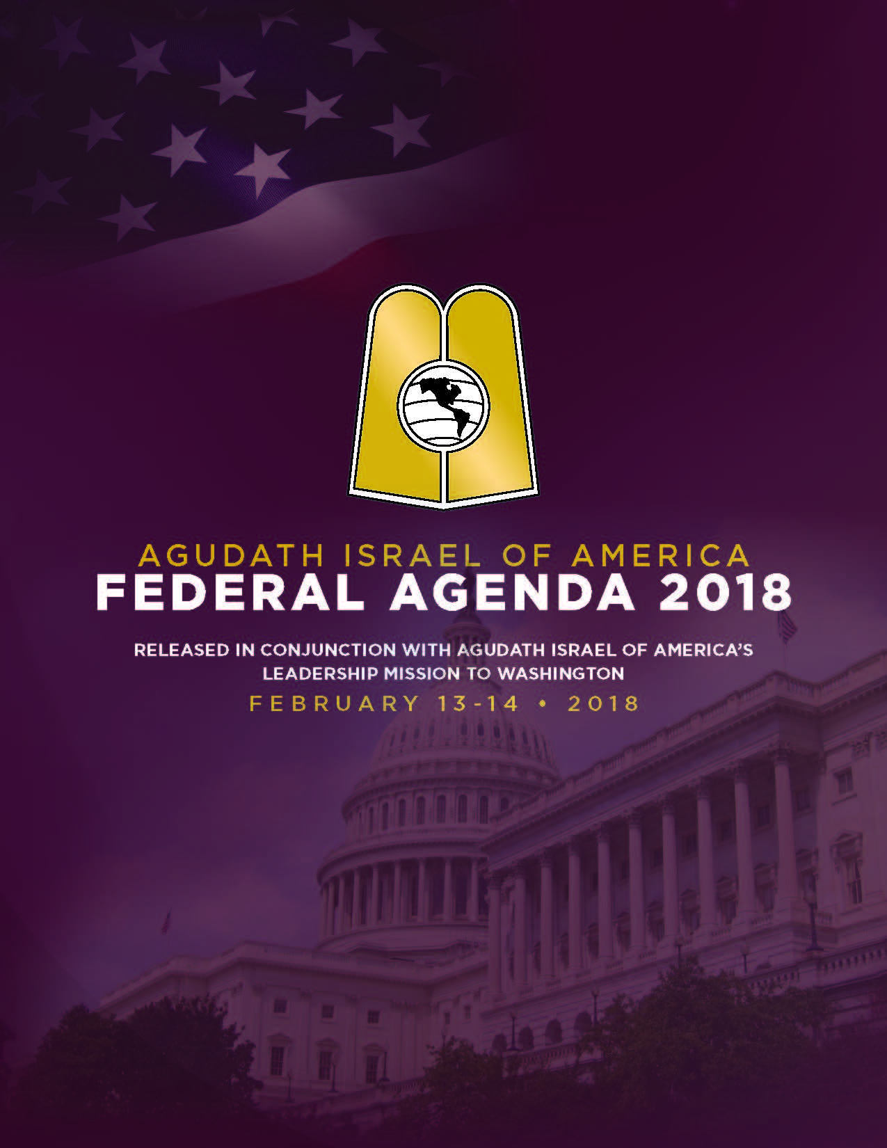 agudath israel 2018 mission to washington d c \u2013 boro park 24agudath israel of america is in washington d c from february 13 14 jewish leaders met with federal representatives to talk about israel, the middle east