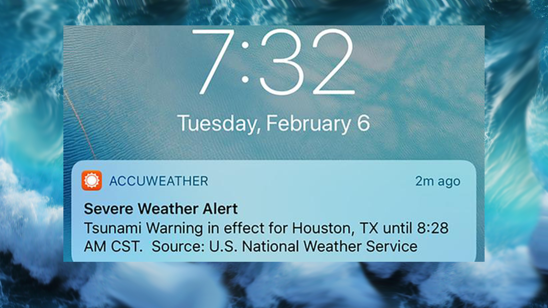 tsunami warning alert issued this morning was a test
