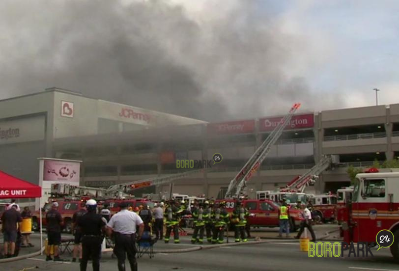 21 Reported Injuries From A Large Fire At Kings Plaza Mall Boro