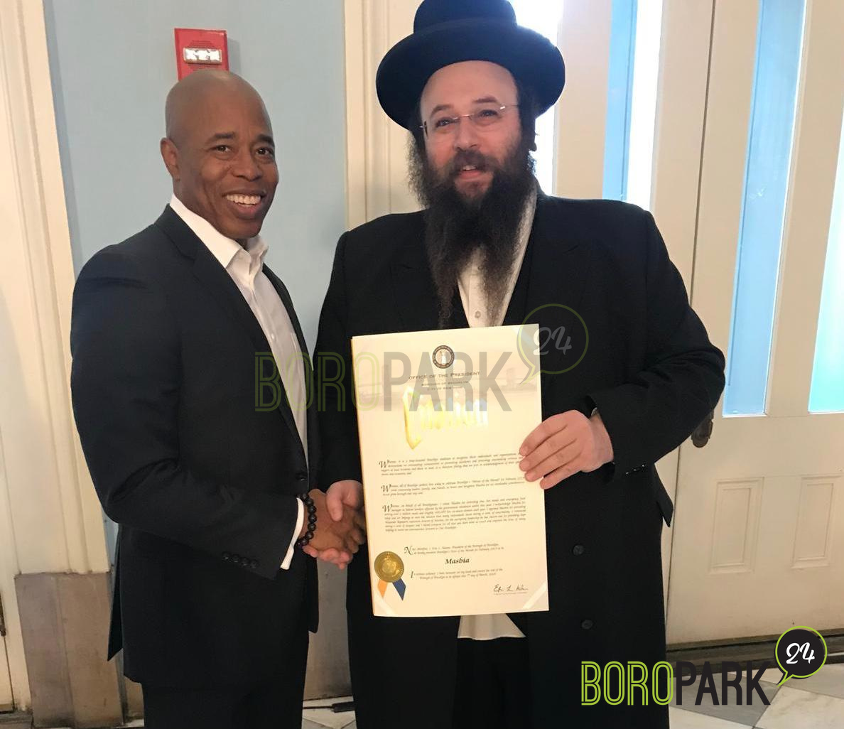 Brooklyn Leader Honors Masbia Among 'Heroes Of The Month