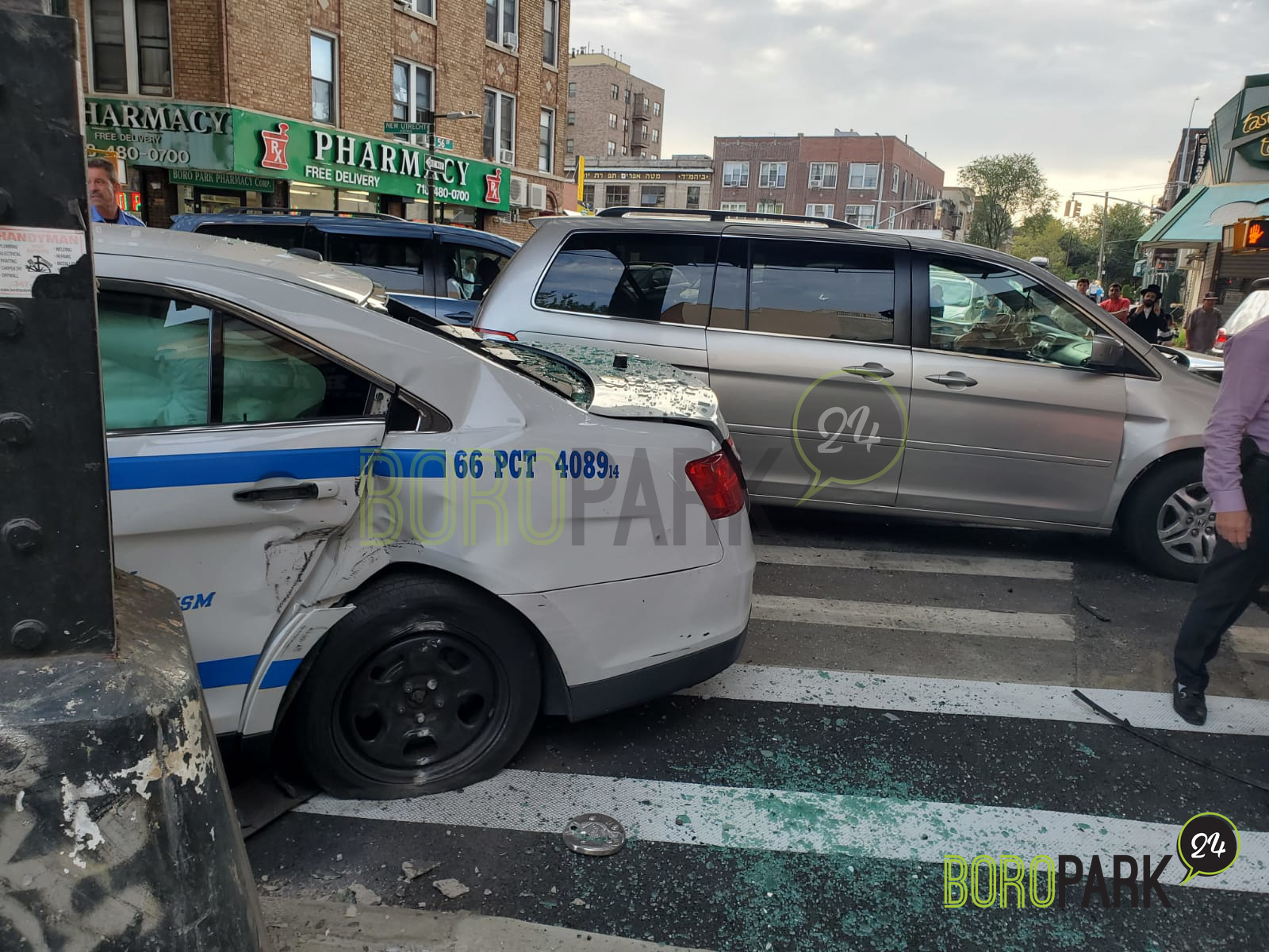 NYPD Officer Injured in Car Accident on New Utrecht Ave