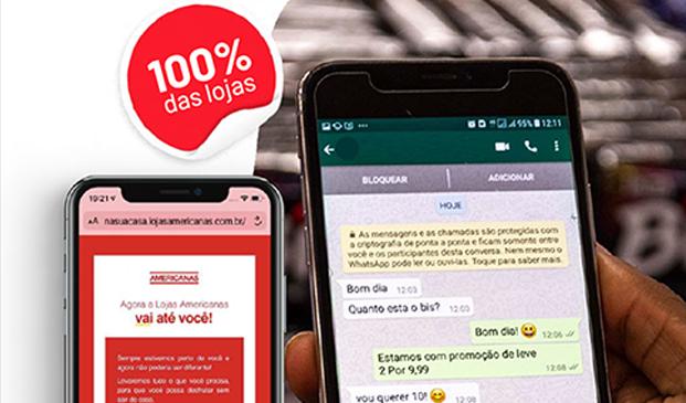 Bot de compras das Lojas Americanas no WhatsApp atinge volume de 3,5 milhões de vendas em seis meses