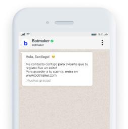 Expande tus ventas mediante el envío de **mensajes masivos y templates personalizados.**