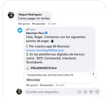 "Automate your <span class=""text-bold"">Facebook Page</span> with comments on posts. See how <span class=""text-bold"">Movistar</span> is doing it."