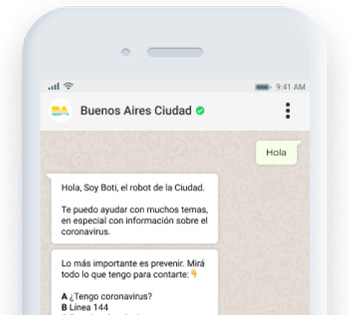 "<span class=""text-bold"">Boti</span> is a customer service bot for the <span class=""text-bold"">City of Buenos Aires</span>, serving millions of users a month on a wide arrange of topics."