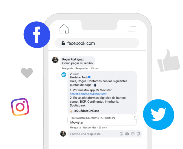 Power your comments on social networks with Botmaker